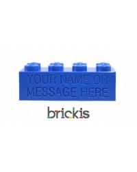 LEGO® brick 2x4 engravé avec nom bleu