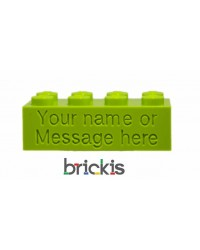 LEGO® brick 2x4 engraved lemon green