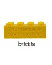 LEGO® blokje met naam gegraveerd geel