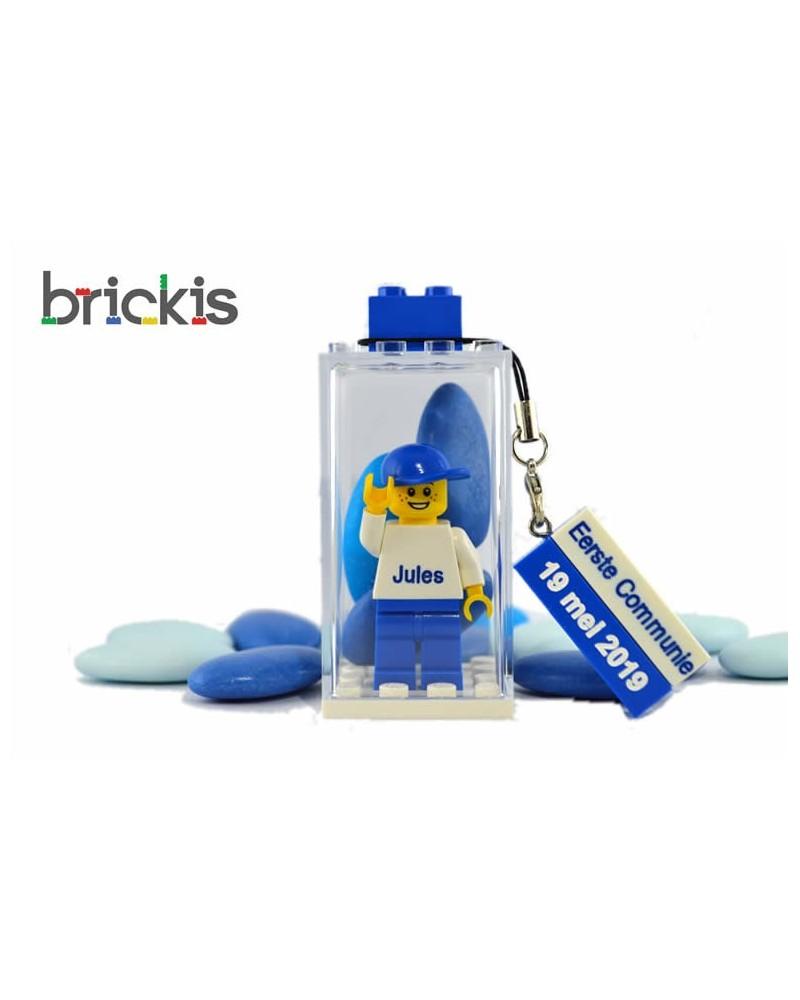 LEGO® minifiguur Eerste Communie met naam gegraveerd gepersonaliseerd