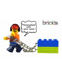 Porte clé LEGO® personnalisé avec nom