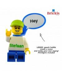 1 x Personalisierte LEGO® Minifigur,  LEGO-Sprechblase
