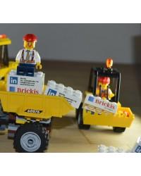 Bricks publiciteit 2x4  bedrukt met logo