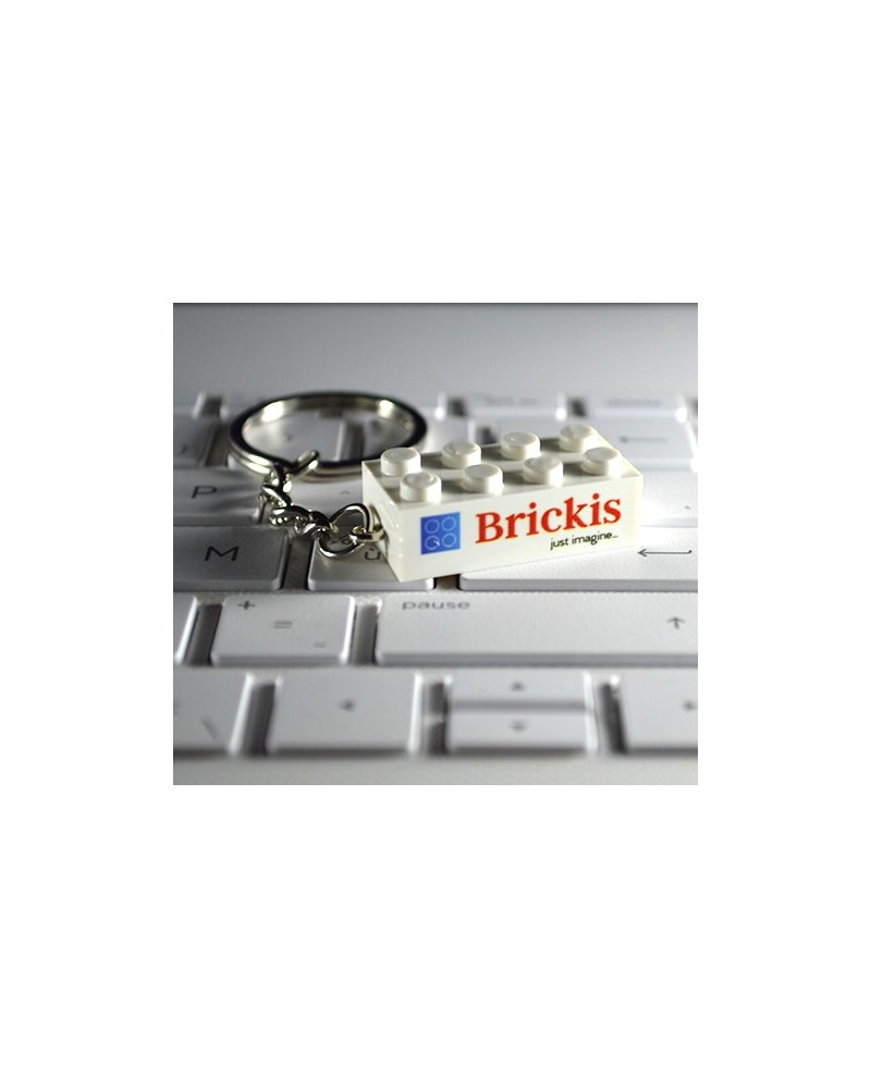 Keychain bricks 2x4 printed with logo