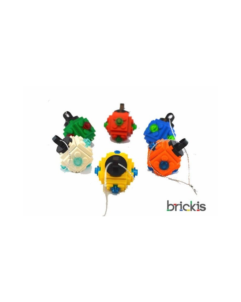6x LEGO® Weihnachten Ornament